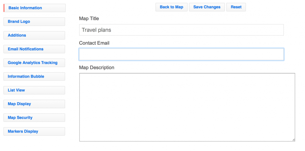 Customise your map in Settings
