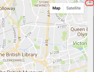 Expand the icon to get a list of map entries