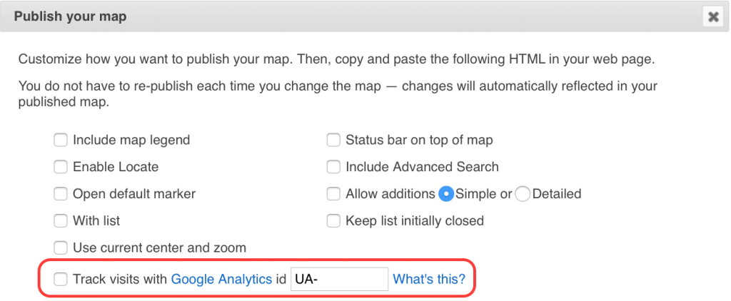 Track visits with Google Analytics