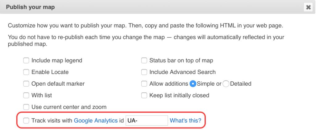 Track visits with Google Analytics